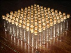 50 glass Mini Bottles 5ml 2 Vials with Corks by glassbottleshop, $11.50 for signature wedding drinks