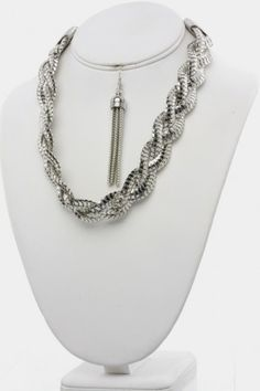 Braided Necklace Set  Necklace  Refer a Friend for a $300 Shopping Spree!
