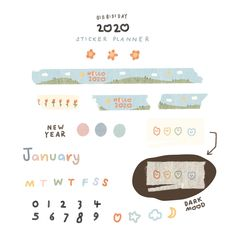 #stickers #notes #washi #tape #planner #스티커 #다이어리 #goodnotes  #notebook #digitalsticker #노트필기 #꾸미기 #아이패드 #다이어리 Kawaii Stickers, Cute Stickers, Journal Stickers, Planner Stickers, Memo Notepad, Instagram Frame, Digital Journal, Bullet Journal Ideas Pages, Good Notes