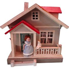 In doll house parlance it is Condition Condition Condition that defines the truly most desirable houses. This Red Roof Gottschalk doll house is in the