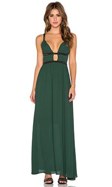 WYLDR Goddess Maxi Dress in Green