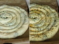 preparare-placinta-cu-branza-si-spanac-2 Eastern European Recipes, Romanian Food, Cooking Recipes, Healthy Recipes, Home Food, Pastry Cake, Food Videos, Food To Make, Bakery