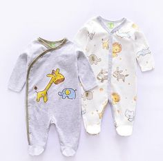 Bar Coded USA Canada Flag Infant Girls Boys Organic Cotton Bodysuits Coverall Jumpsuit