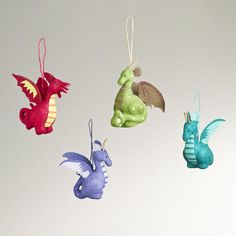 One of my favorite discoveries at WorldMarket.com: Paper Dragon Ornaments, Set of 4