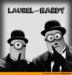 Laurel and Hardy versió minion Minion Rock, Cute Minions, Minion Movie, Minions Despicable Me, Amor Minions, Minions Quotes, Minion Dress Up, Minions What, Yellow Minion