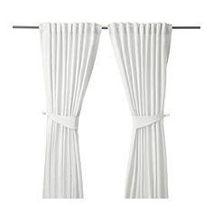 "BLEKVIVA Curtains with tie-backs, 1 pair, white - 57x98 "" - IKEA"