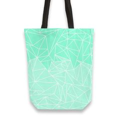 'Becho Rays' Tote Bags by fimbis on miPic  #geometric #gradient #stripes #totebag #mint #mintgreen #green #fashion #style #lifestyle #bag #shopping #shoppingbag #school #backtoschool #college Non Woven Bags, Thing 1, Green Fashion, Luggage Bags, Canvas Tote Bags, Mint Green, Hand Sewing, Shopping Bag, Reusable Tote Bags
