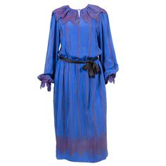 1970s Zandra Rhodes Rare Silk Dress   From a collection of rare vintage evening dresses at https://www.1stdibs.com/fashion/clothing/evening-dresses/