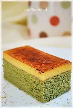 Creme Brulee Green Tea Chiffon Cake!!!!  YUM:)  Matcha Green Tea: