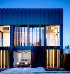 Townhouses in Dublin with a Striking Exterior - Design Milk Gaudi, Residential Architecture, Amazing Architecture, Facade Design, Exterior Design, Townhouse Exterior, Dublin House, Zinc Roof, Scandinavian Architecture