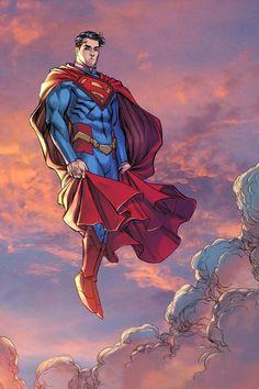 Superman by Mike S. Miller, colours by Nanjan * - Visit to grab an amazing super hero shirt now on sale! Superman Artwork, Superman Wallpaper, Superman Comic, Arte Dc Comics, Dc Comics Art, Enchantress Dc, Cheetah Dc Comics, Dc Comics Peliculas, Hq Dc