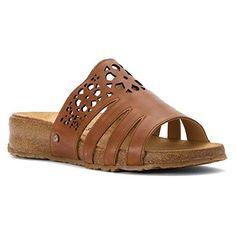 Haflinger Women's Ts Donna Walnut Flat Sandal