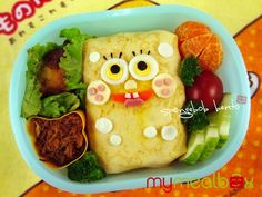 spongebob bento box. Ok so it looks like making lunch might take all day - but it's amazing!