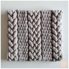 un snood féminin - knitting a snood