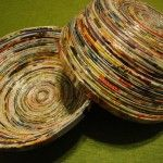 Recycle old magazines into beautiful bowls - Living On The Cheap