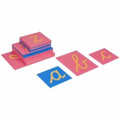 The Nienhuis Montessori cursive sandpaper letters are iconic to the Montessori classroom. This material is suitable for children aged years. Cursive, Sandpaper Letters, Montessori Classroom, Mindfulness, Leo, Teacher, Inspired, School, Products