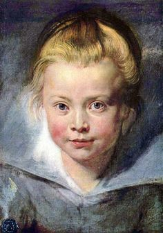 Portrait of A Young Girl (Clara Serena Rubens)-Peter Paul Rubens (1577 – 1640, Flemish)