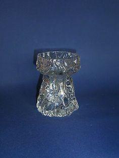 IG  INGRID GLAS Kristall Vase Rinde Borke BLOCKVASE H 11,5 cm