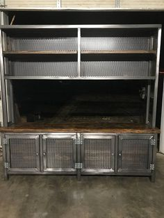 Industrial Steel console cabinet contact for shipping