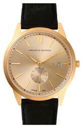 Larsson & Jennings 'Saxon' Leather Strap Watch, 39mm