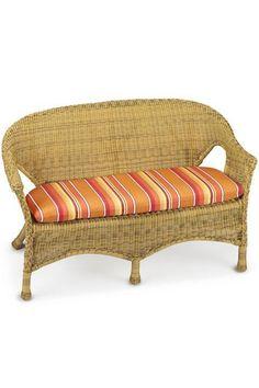 Bullnose Contoured Outdoor Settee Cushion