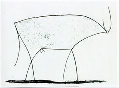 """"""" Pablo Picasso - Bull (1945) About Picasso's series: """"Pablo Picasso created 'Bull' around the Christmas of 1945. 'Bull' is a suite of eleven lithographs that have become a master class in how to..."""