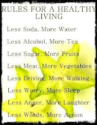 Image result for rules for healthy living