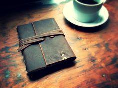 OOAK Leather Journal with Hemp Paper Hand sewn by ZenBuffalo, $50.00