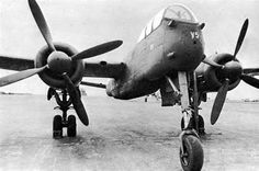 Germany's Heinkel He 219 Uhu (Eagle-Owl) night fighter. The Heinkel He 219 Uhu was a night fighter that served with the German Luftwaffe in the later stages of World War II. A relatively sophisticated design, the He 219 possessed a variety of innovations, including an advanced VHF-band intercept radar. It was also the 1st operational military aircraft in the world to be equipped with ejection seats, & the first operational German World War II-era aircraft with tricycle landing gear.