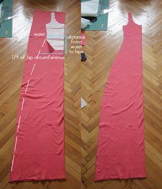 Pearls & Scissors: Simple summer jersey maxi dress (DIY)