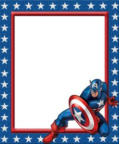 Kids Transparent Frame with Captain America