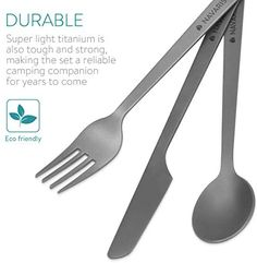 Utensil Set, Cutlery Set, Forks And Spoons, Travel Products, Program Design, Camping, Campsite, Campers, Tent Camping