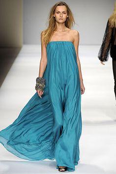 maxi dress in water color... summer please - La Perla
