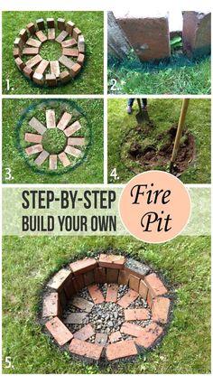Fire Pit Party, Diy Fire Pit, Fire Pit Backyard, Backyard Patio, Backyard Landscaping, Patio Stone, Patio Plants, Flagstone Patio, Concrete Patio