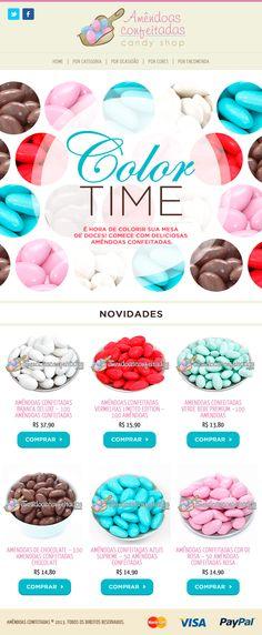 Amêndoas Confeitadas   newsletter. www.amendoasconfeitadas.com.br