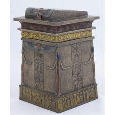 Ancient Egyptian Canopic Jar Shrine Trinket Jewelry Box