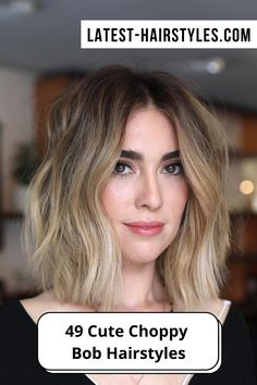 Click the link to see this year's most popular choppy bob hairstyles and haircuts. Photo credit: Instagram @hirohair Choppy Bob Hairstyles, Latest Hairstyles, Haircuts, Choppy Cut, Textured Bob, Cut And Style, Bob Cut, Photo Credit, Popular