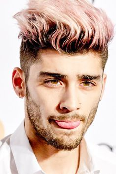 zayn malik with pink hair - Google Search