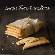 Delicious grain-free crackers, with variations.