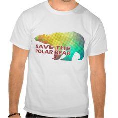 MOSAIC COLOR POLAR BEAR(SAVE THE POLAR BEAR) TEE SHIRTS