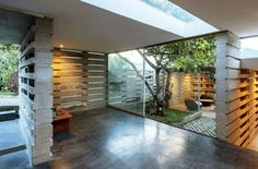A Modern House Built From 900 Concrete Blocks
