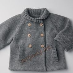 On a Russian site ~ I think it is Phildar Vest 17 * 44 No 984 ... sized: newborn to 24 months