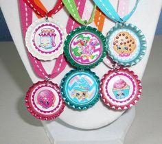Shopkins 3D  6 - Metallic Shiny  Bottle Cap Necklace Birthday Party Favors #Unbranded #BirthdayChild