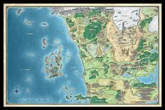 487 best forgotten realms images on pinterest in 2018 dragons this map of the sword coast and northwestern faern from the world of dungeons dragons was initially commissioned to accompany the edition dd game gumiabroncs Gallery