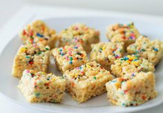 These Cake Batter Treats are so easy to make.
