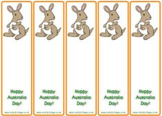 Australia Day Printables for kids. Happy Australia Day bookmarks. | Activity Village http://www.activityvillage.co.uk/hoppy-australia-day-bookmarks
