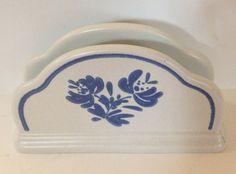Pfaltzgraff Yorktowne Blue & White Vintage Napkin Holder