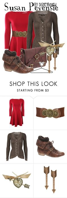 """Susan Pevensie"" by leslieakay ❤ liked on Polyvore featuring French Connection, Wet Seal, Rosemunde, FOSSIL, River Island, Disney, Lanvin, House of Harlow 1960 and disney"