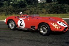 Jean Berha in the factory Maserati Le Mans Fangio had won the 12 Hours of Sebring driving that very car earlier in the year. Sports Car Racing, Road Racing, Sport Cars, Race Cars, Auto Racing, Maserati, Bugatti, Ferrari, Vintage Race Car