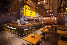 kampai express ashdod by nir portal architects/ design team: alex razmachnin asianrestaurant Restaurant Design, Restaurant Bar, Bar Design Awards, Cafe Design, Architect Design, Interior, East Africa, Screen Shot, Middle East